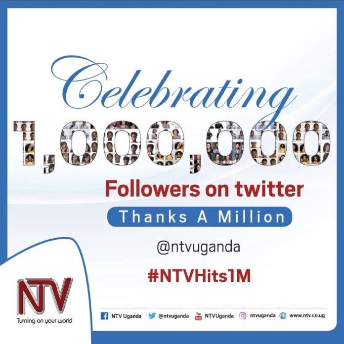 NTV Uganda Hits 1 Million Followers on Twitter 1 MUGIBSON
