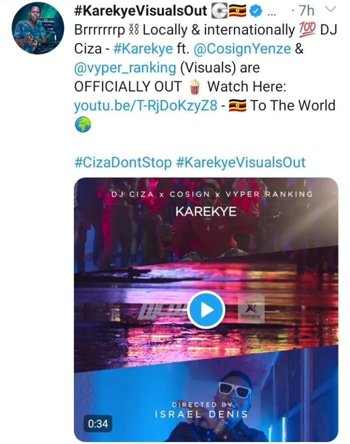 DJ Ciza, Cosign and Vyper Ranking out 'Karekye' visuals. Watch Here: -  4 MUGIBSON WRITES