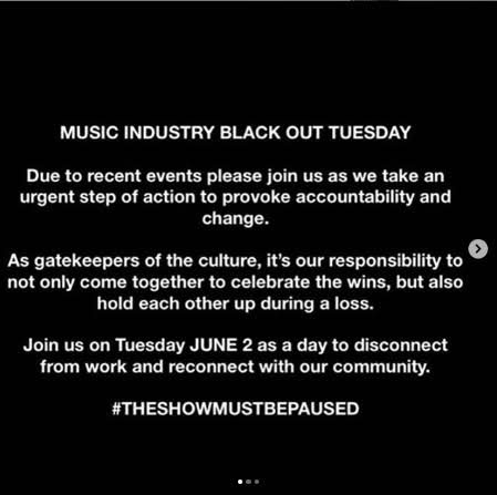 Blackout Tuesday: The reason your Social feeds went Black Today. 5 MUGIBSON WRITES