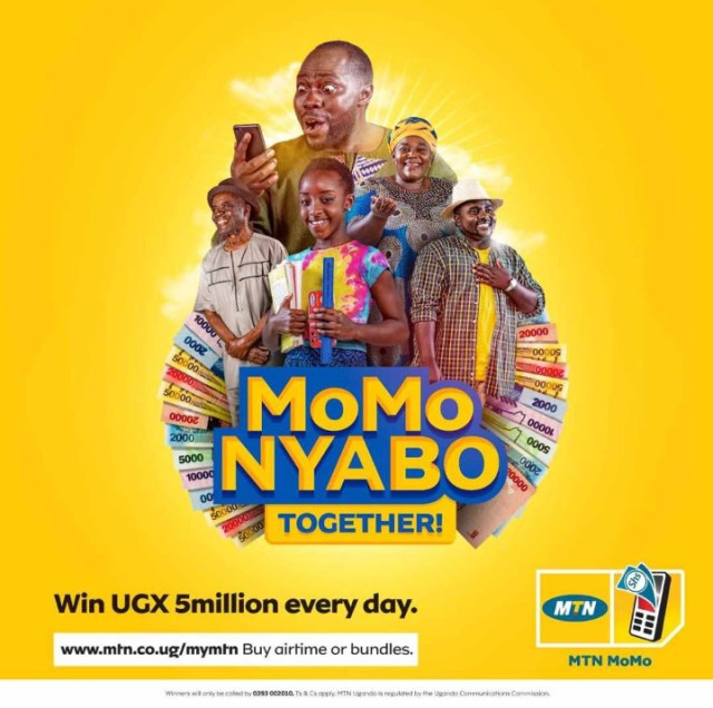 MTN MoMoNyabo drive returns in 3rd Edition. Promises prizes worth UGX 1.2 Billion to be won 1 MUGIBSON WRITES