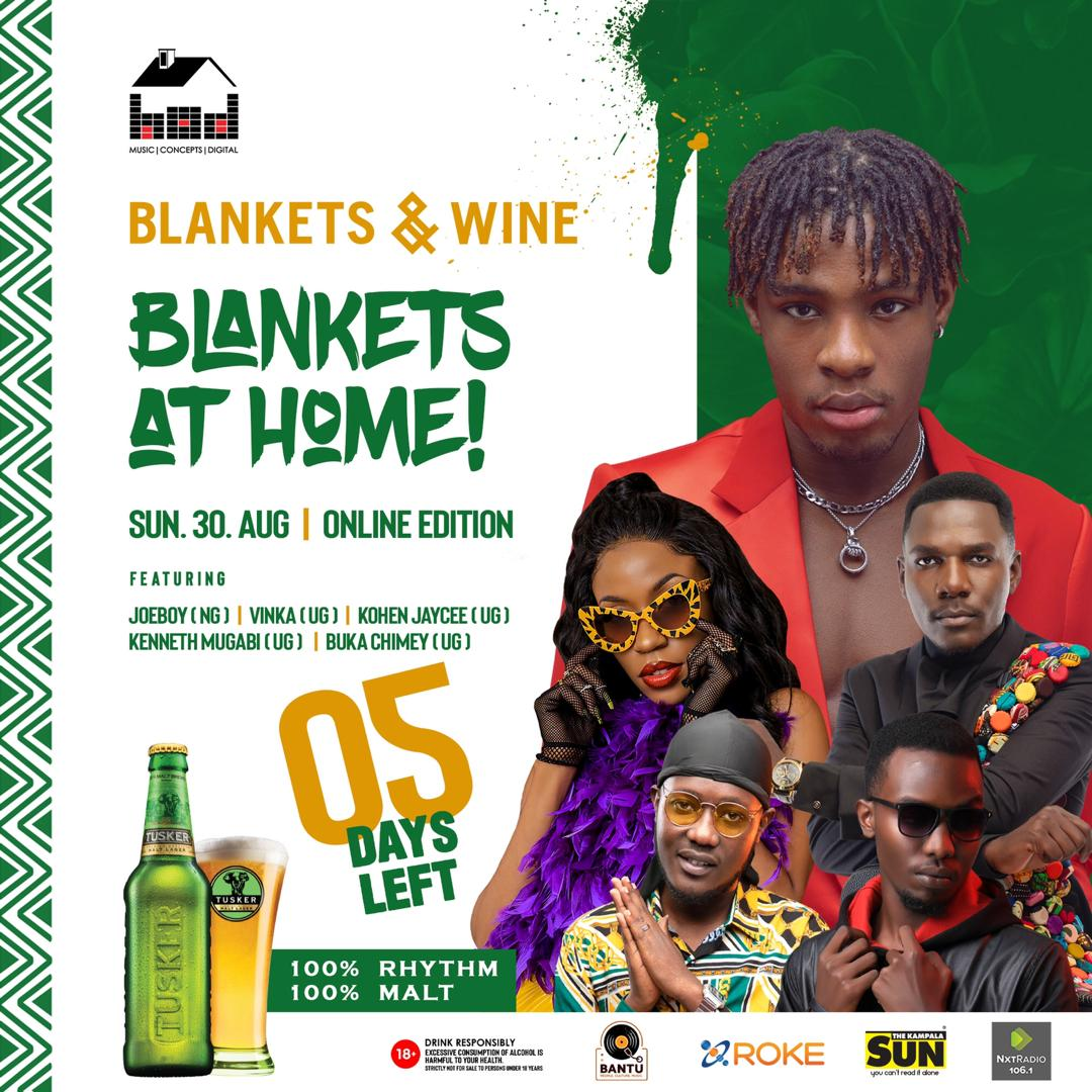 'Call' hit maker Joeboy to entertain partiers at first Ever Blankets and Wine Online Edition 1 MUGIBSON WRITES