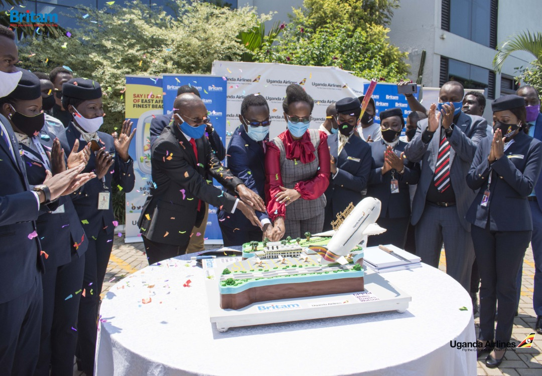 Britam crowns 'Bake Off Challenge' winner. Hands over new cake to Uganda Airlines 1 MUGIBSON WRITES