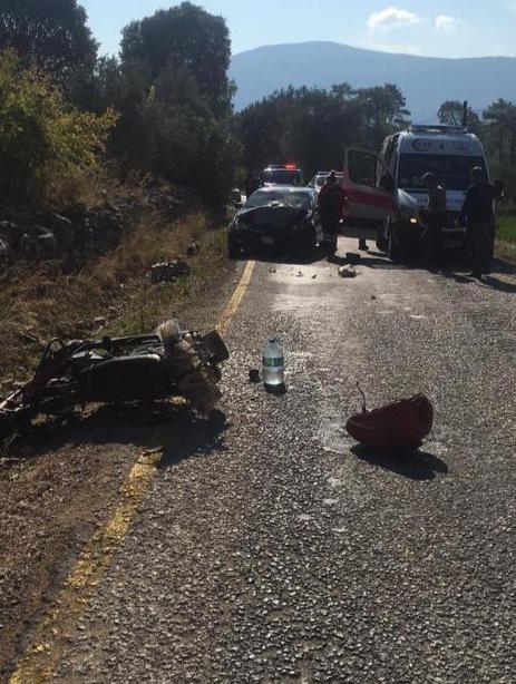 Seydikemer'de motosikletle otomobil çarpıştı: 1 ölü
