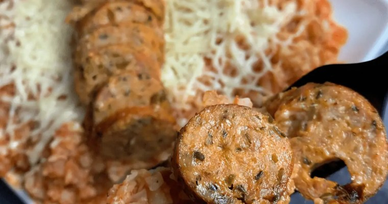 Low Carb Italian Chicken Sausage Bowls