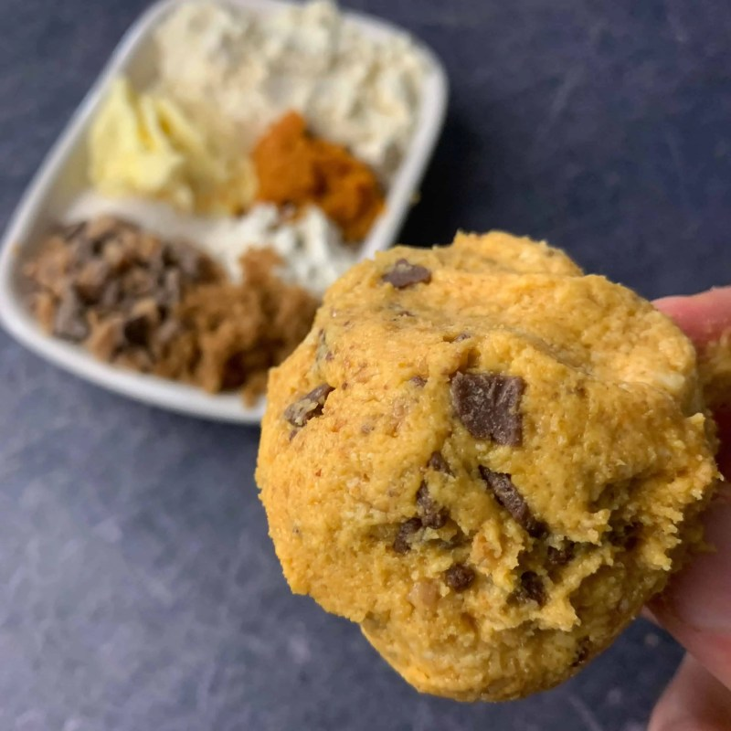 heath bar cookie dough for one