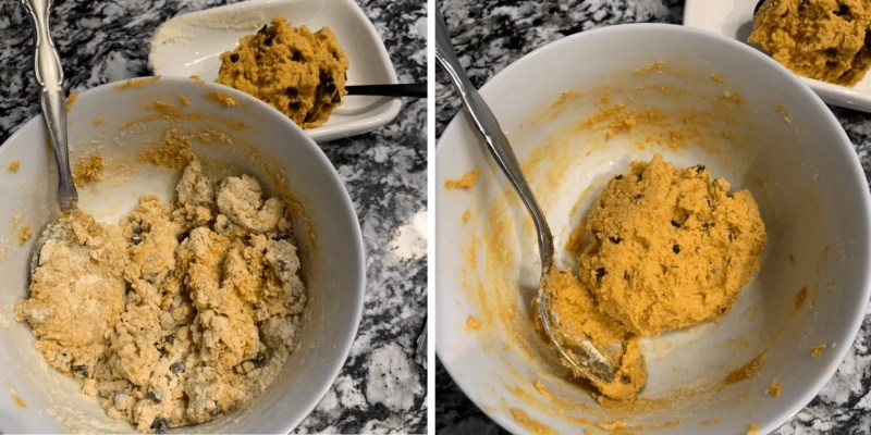 how to make peanut butter chocolate chip protein cookie dough recipe