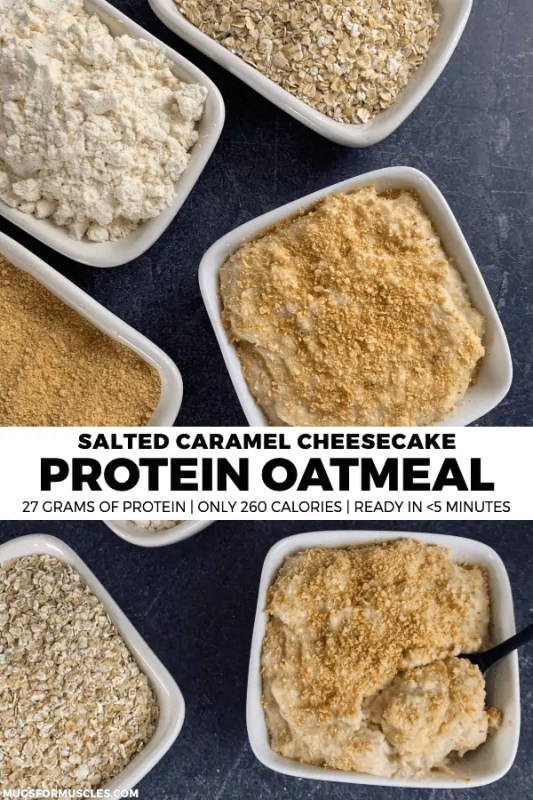 Does your breakfast need an upgrade? If so, you'll love this quick and easy protein oatmeal recipe with 27 grams of protein and only 260 calories per bowl.