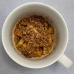 microwave apple crisp recipe overhead photo