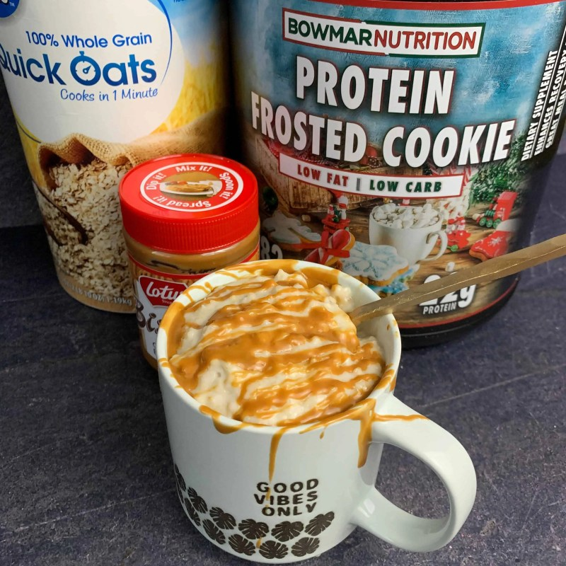 cookie butter high protein oatmeal recipe