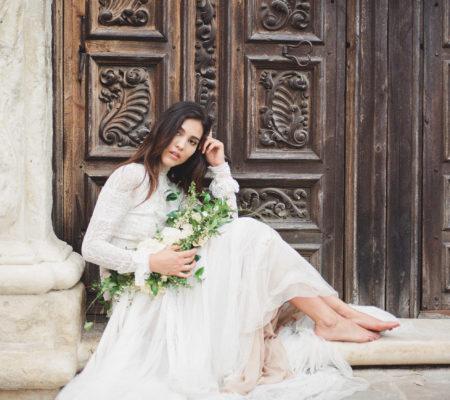 romantic organic elopement at mission san jose   Muguet Photography