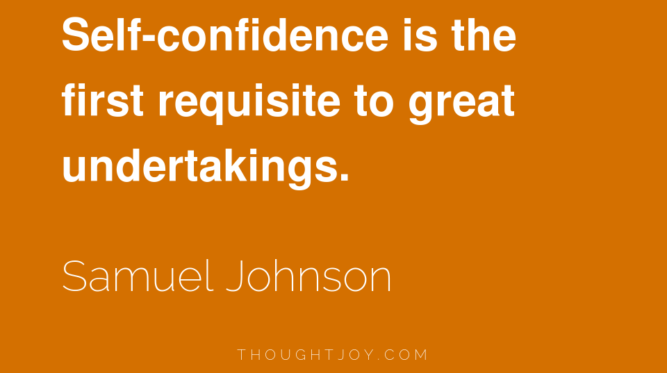 Building Self Confidence­­­­­