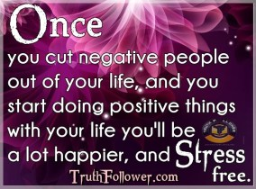 cut negative people out of your life