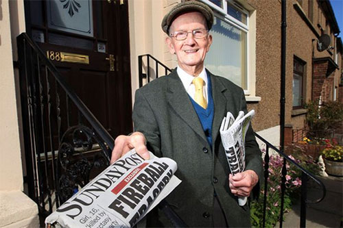 Meet the 100-year-old war veteran who still delivers newspapers