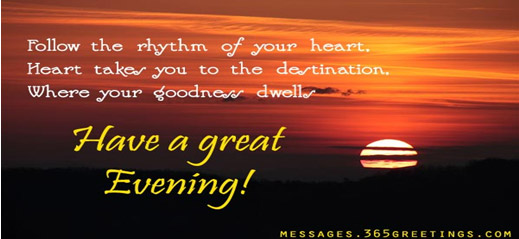 It's Evening Time to be happy and grateful