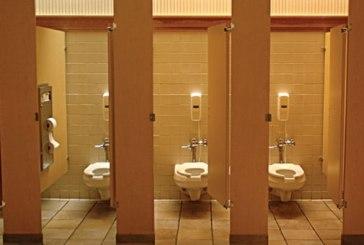 Take care as you use shared public washrooms