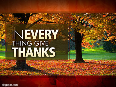 Thank you for abundant gifts