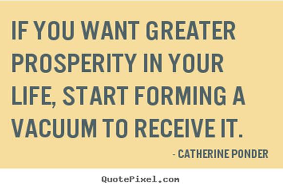 Pray for prosperity in life