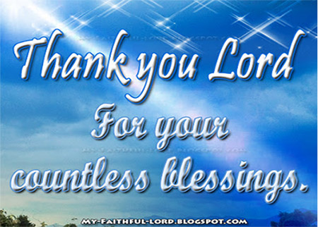 Thank you Lord for being with me as I walk to the world of success