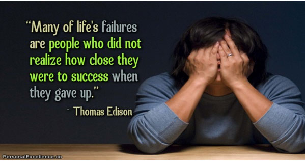 Key causes of failure in life