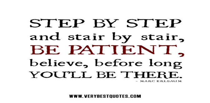 Patience is a virtue which leads to success