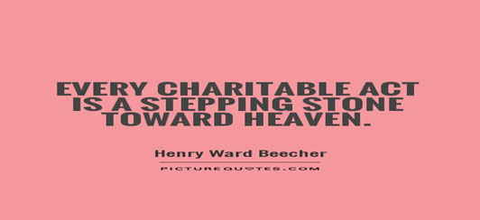 To succeed in life you have to be charitable