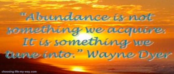 Lord instil in me the abundance mindset