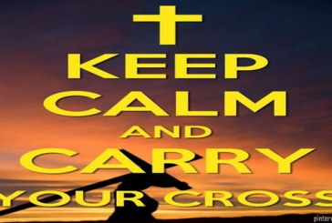 Succeeding in life is like making a heavy cross and carrying it to your final destination