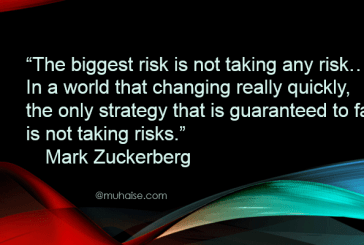 Inspirational quote on risk taking