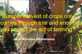 Inspirational quote on agriculture