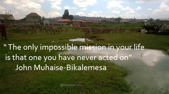 Inspirational quote on mission