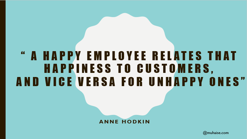 Inspirational quote about employee happiness