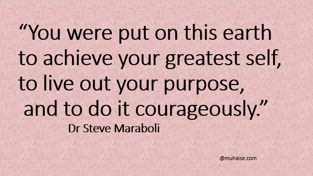 Inspirational quote on purpose