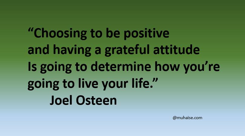 Grateful attitude