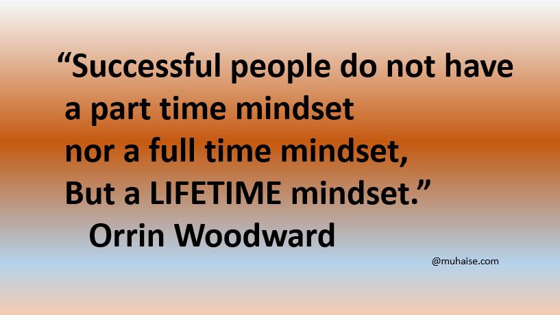 Mindset in positive default mode is key for success