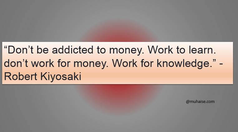 Addiction to money