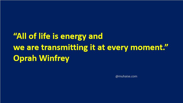Life is energy