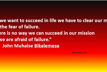 Fear of failure starts from our mind
