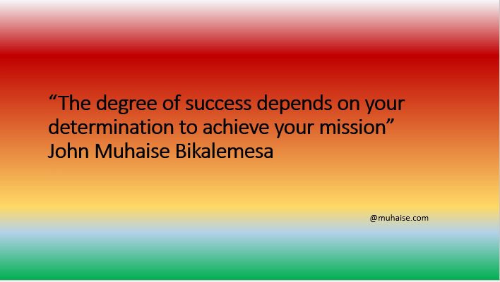Determination to succeed