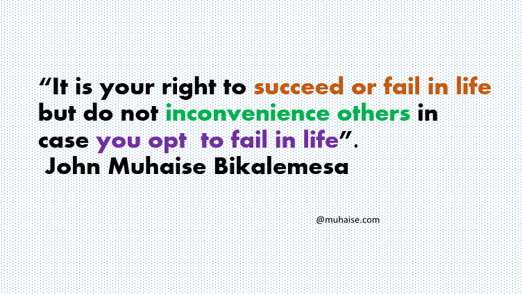 Success or failure in life