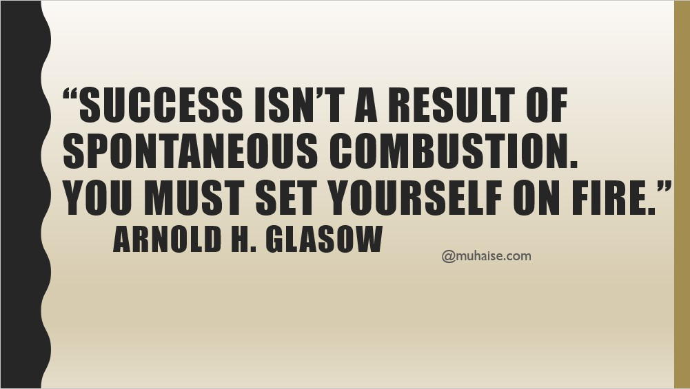 Success is a personal effort