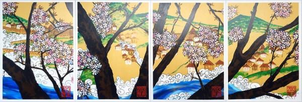 4 Aspects of Vranduk, Golden Brown, Mist and Cherry Blossom