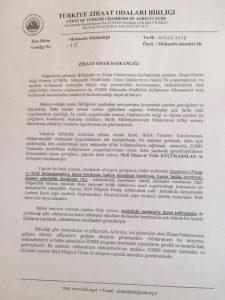 Türkiye Ziraat Odaları Birliği 3568 Sayılı kanunu Yerle Bir Etmiş