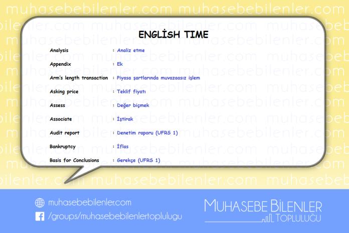 english time analiz etme