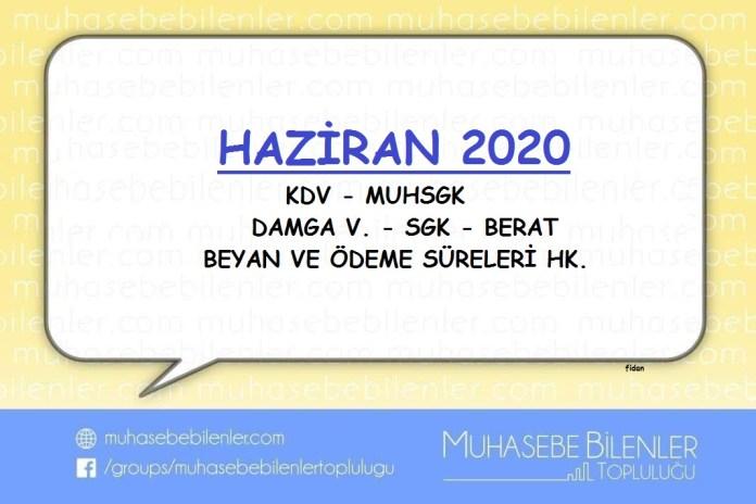 HAZİRAN 2020