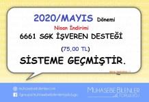 SGK DESTEK 6661 MAYİS 2020