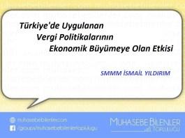 Türkiye'de Uygulanan Vergi Politikalarının Ekonomik Büyümeye Olan Etkisi