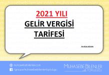 2021 Yılı Gelir Vergisi Tarifesi