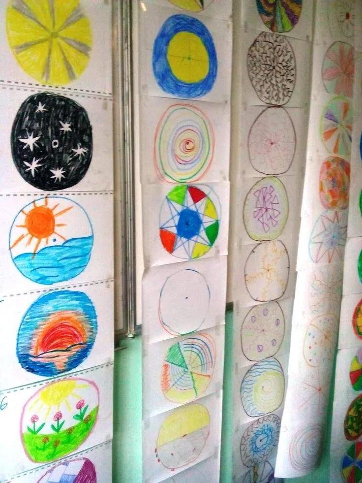Algunos de los dibujos de 'mandalas' resultado de las sesiones de Sesión de arte-terapia conducidas por Victoria Nazarevich