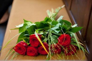 Blumenstraus aus roten Rosen