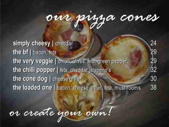 Pizza cone menu May'20